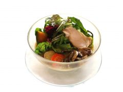 秋の野菜の味噌らーめん 蒸し鶏のせ